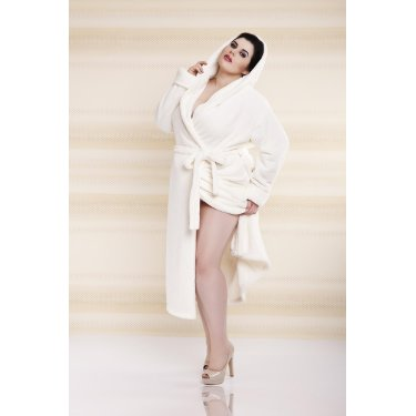 Dressing-gown DIANA Plus Size - długa