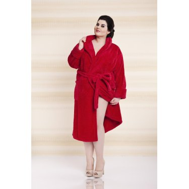 Dressing-gown ELIZA Plus Size - długa